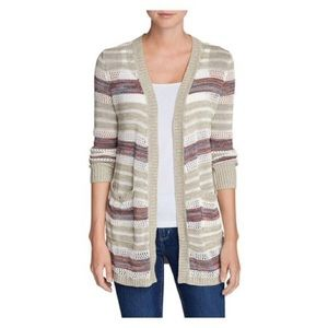 Eddie Bauer Striped Knit Cardigan - Petite Small